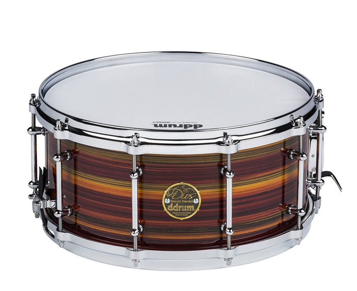 ddrum Dios 14 x 6.5 Maple Zebra Lacquer Striped Snare Drum