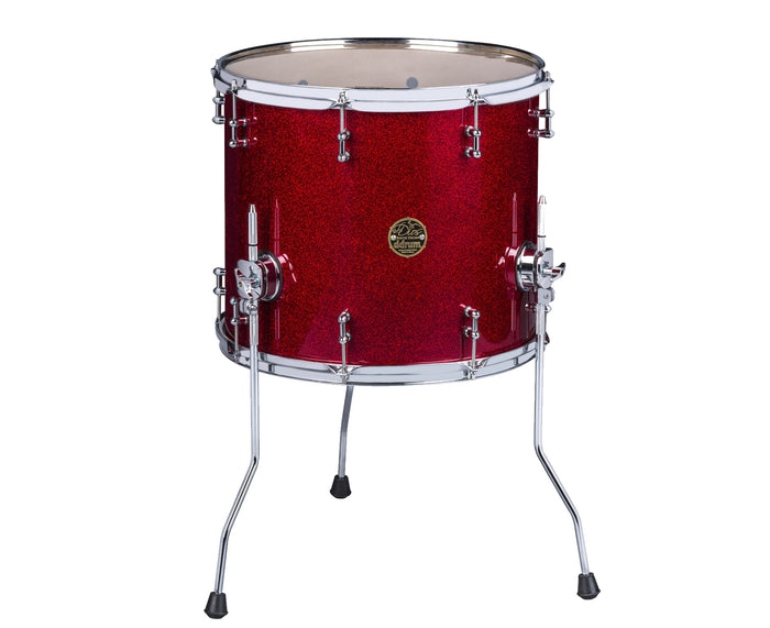 ddrum Dios Maple 16x18 Floor Tom in Red Sparkle