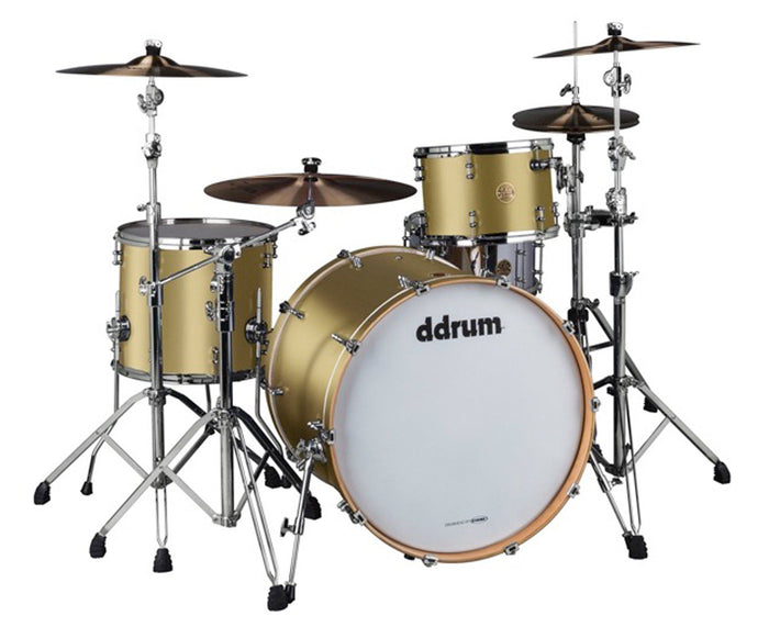 ddrum Dios DSMP-324SG 3-Piece Satin Gold Shell Pack