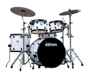 ddrum Journeyman Gen. 2 Player 5-Piece Drumset w/ Hardware in White - Megatone Music