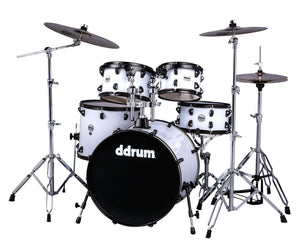 ddrum Journeyman Gen. 2 Player 5-Piece Drumset w/ Hardware in White Drum Kits DDrum