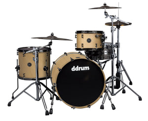 ddrum M.A.X. 3-Piece Satin Natural Shell Pack - MAX-322-SN - Megatone Music