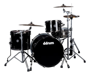 ddrum M.A.X. 3-Piece Piano Black Shell Pack - MAX-322-PB - Megatone Music