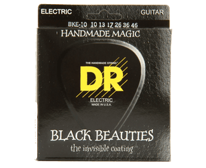 DR Strings BKE-10 Black Beauties K3 Coated Guitar Strings 10-46 - Megatone Music