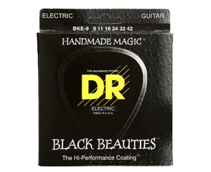 DR Strings BKE-9 Black Beauties K3 Coated Guitar Strings 9-42 Electric Guitar Strings DR Strings
