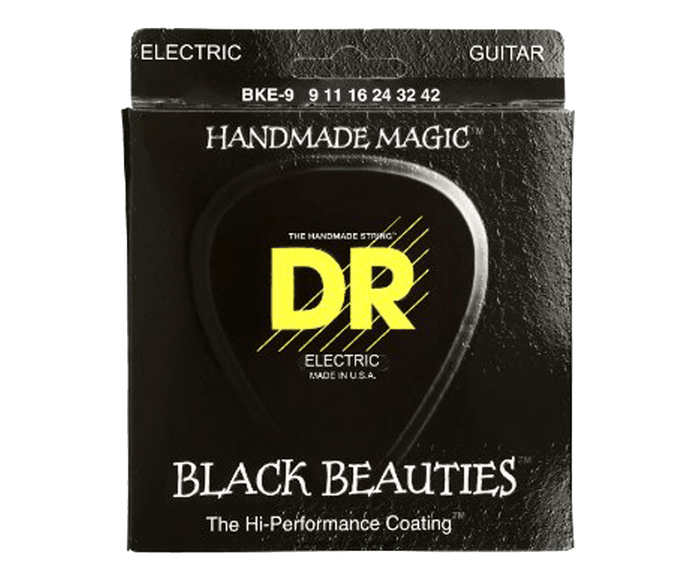 DR Strings BKE-9 Black Beauties K3 Coated Guitar Strings 9-42