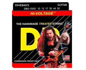 DR Strings DBG-10/52 Dimebag Darrell Electric Hi-Voltage Guitar Strings Electric Guitar Strings DR Strings