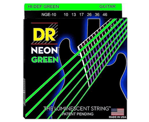 DR Strings Hi-Def Neon Green Electric Guitar Strings 10-46 - Megatone Music