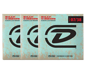 Dunlop Rev Willy's Lottery Brand 7-38 Electric Guitar Strings 3-Pack Electric Guitar Strings Dunlop