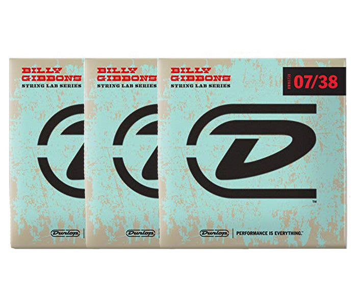 Dunlop Rev Willy's Lottery Brand 7-38 Electric Guitar Strings 3-Pack