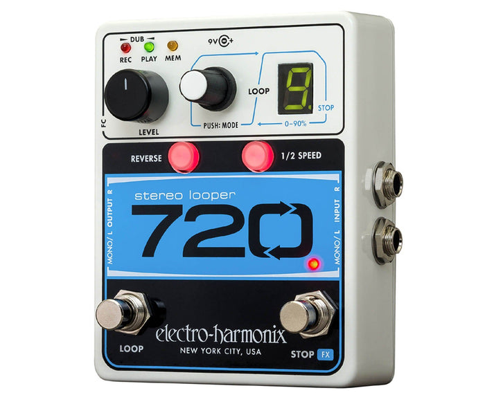 Electro-Harmonix EHX 720 Stereo Recording Looper Guitar Pedal