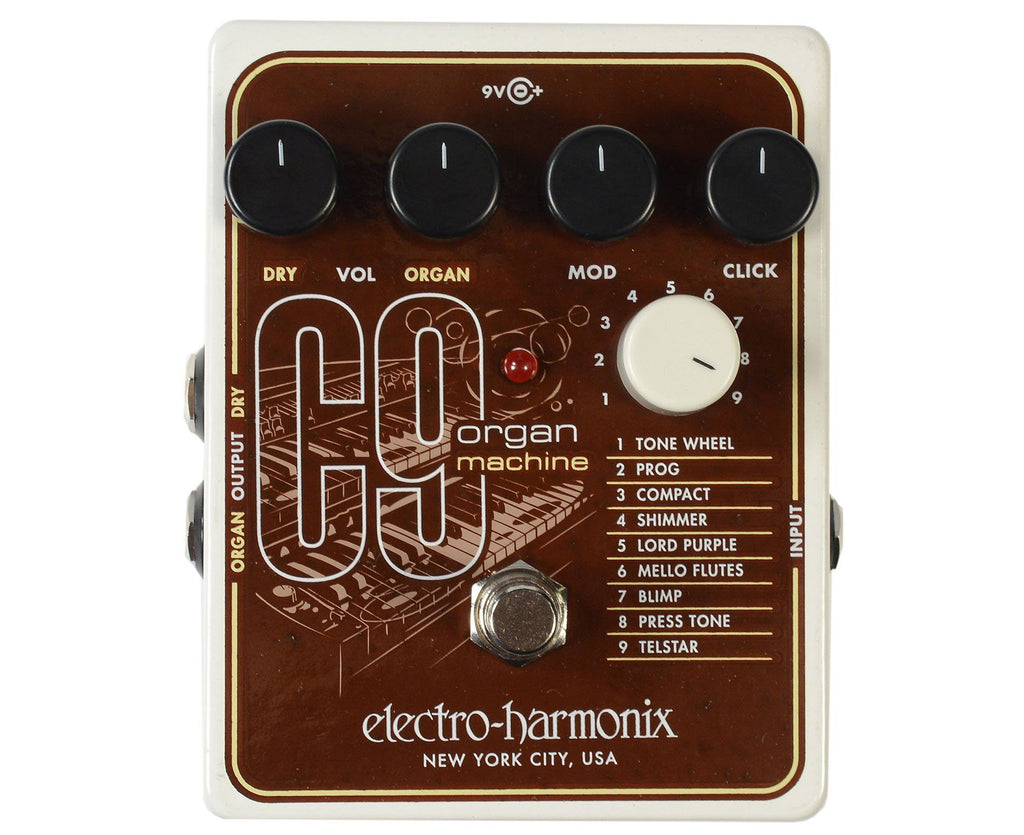 Electro-Harmonix EHX C9 Organ Machine (C 9) Guitar Effects Pedal - Megatone Music