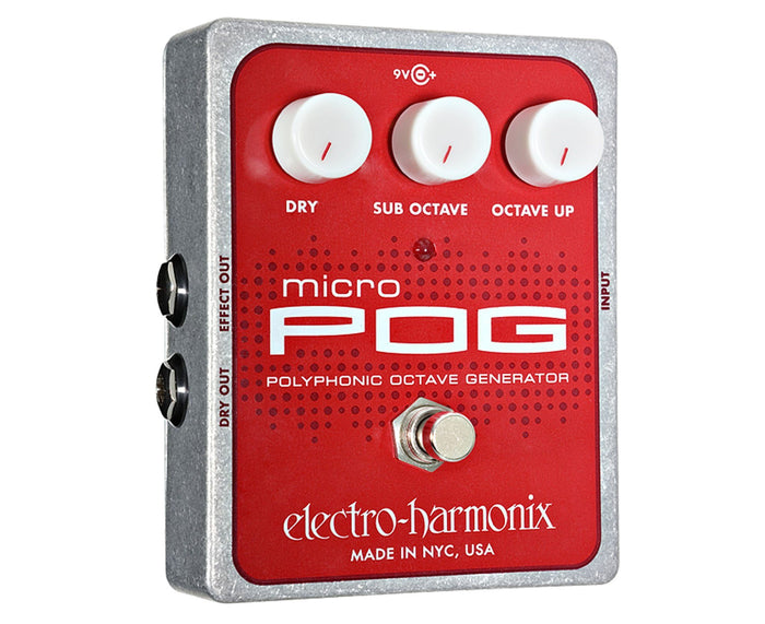 Electro-Harmonix EHX Micro POG Polyphonic Octave Generator Effects Pedal