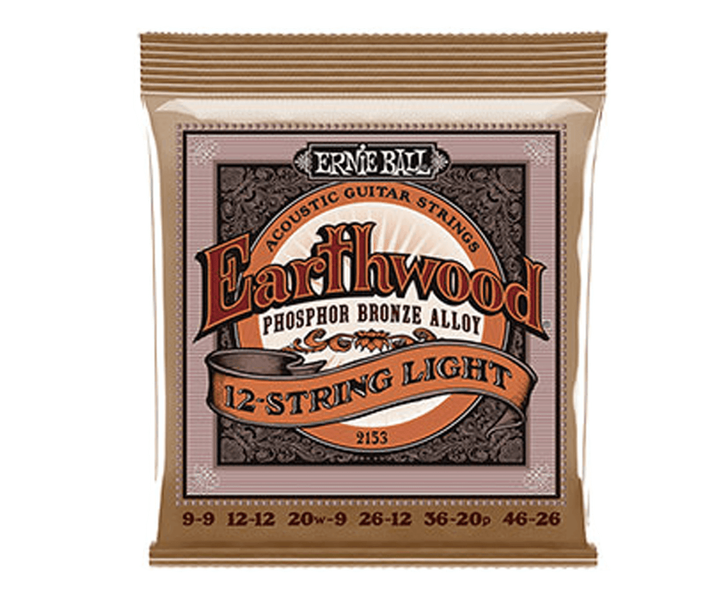 Ernie Ball 2153 Earthwood 12-String Phosphor Bronze Acoustic Guitar Strings 9-46 - Megatone Music