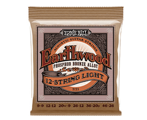 Ernie Ball 2153 Earthwood 12-String Phosphor Bronze Acoustic Guitar Strings 9-46 Acoustic Guitar Strings Ernie Ball