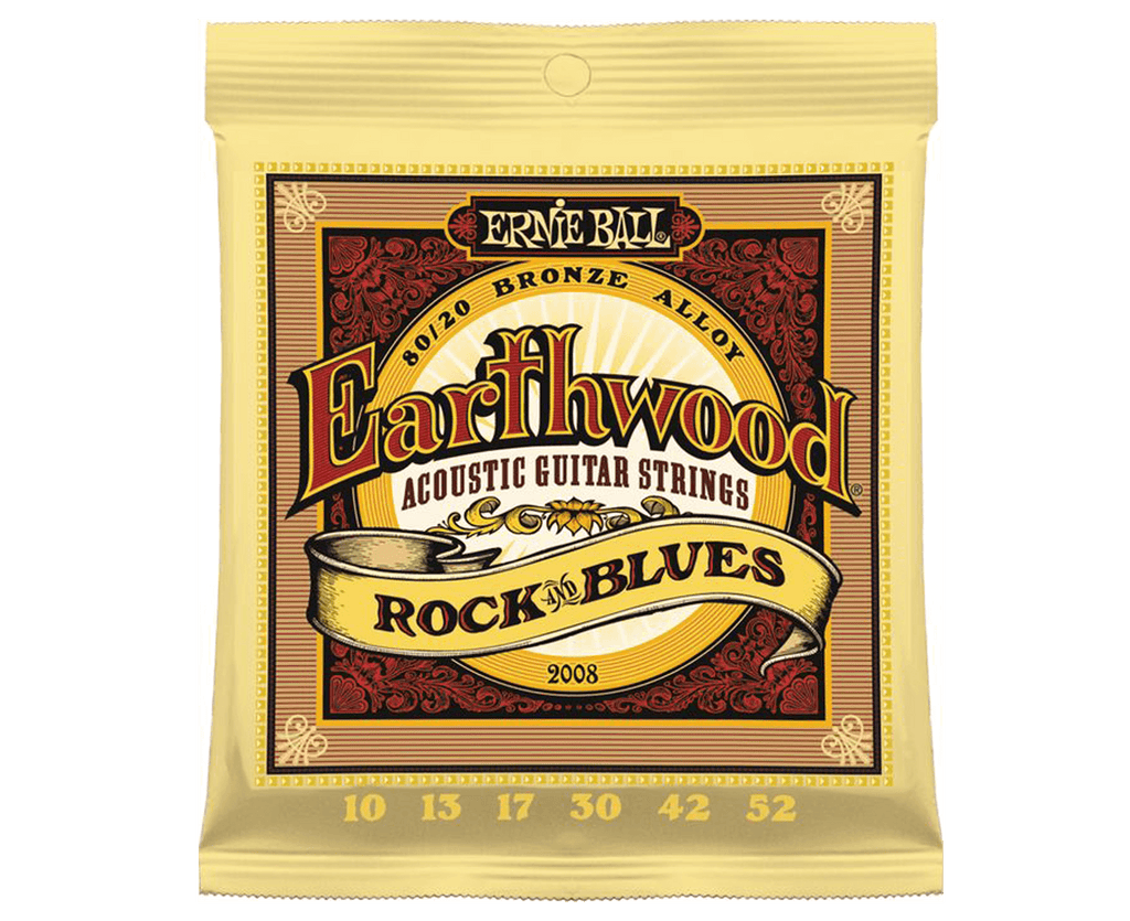 Ernie Ball 2008 Earthwood Rock and Blues 10-52 Acoustic Guitar Strings - Megatone Music