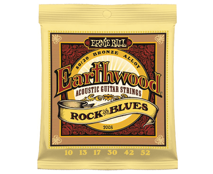 Ernie Ball 2008 Earthwood Rock and Blues 10-52 Acoustic Guitar Strings
