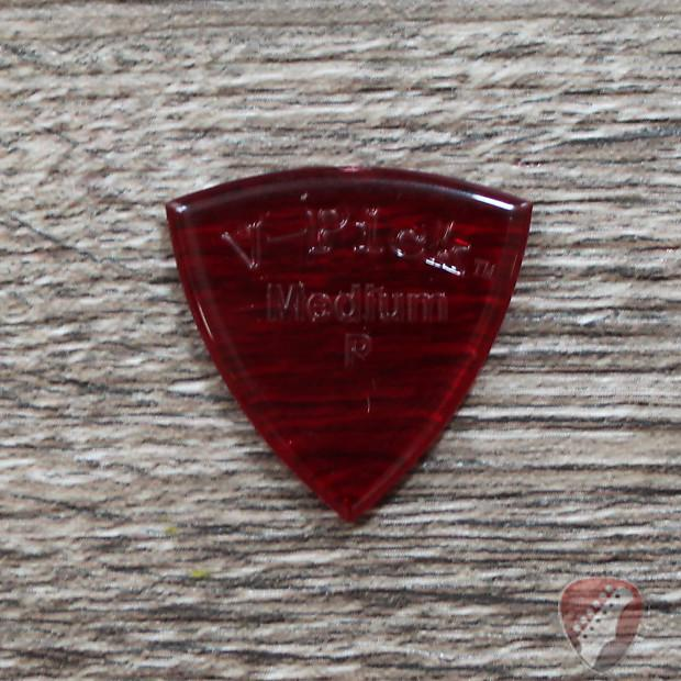 V-Picks Ruby Red Medium Pointed Custom Guitar Pick 2.75mm