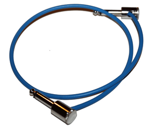 "George L's 20"" Nickel Effects Cable in Blue - Megatone Music"