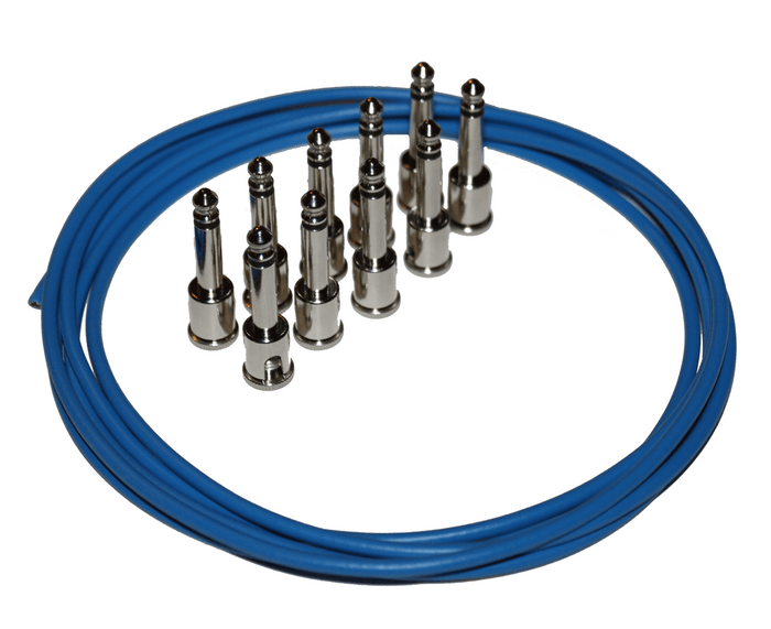George L's Pedalboard Cable Kit in Blue