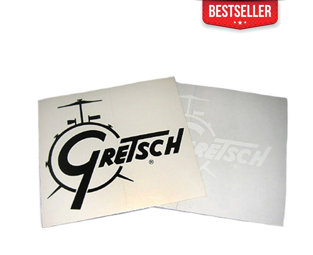 Gretsch Drum Logo Decal in Black - Megatone Music