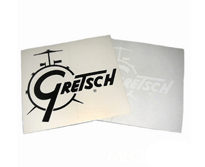 Gretsch Drum Logo Decal in White Sticker / Decal Gretsch Gear