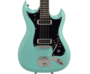 Hagstrom Retroscape H-II Electric Guitar in Aged Blue - Megatone Music