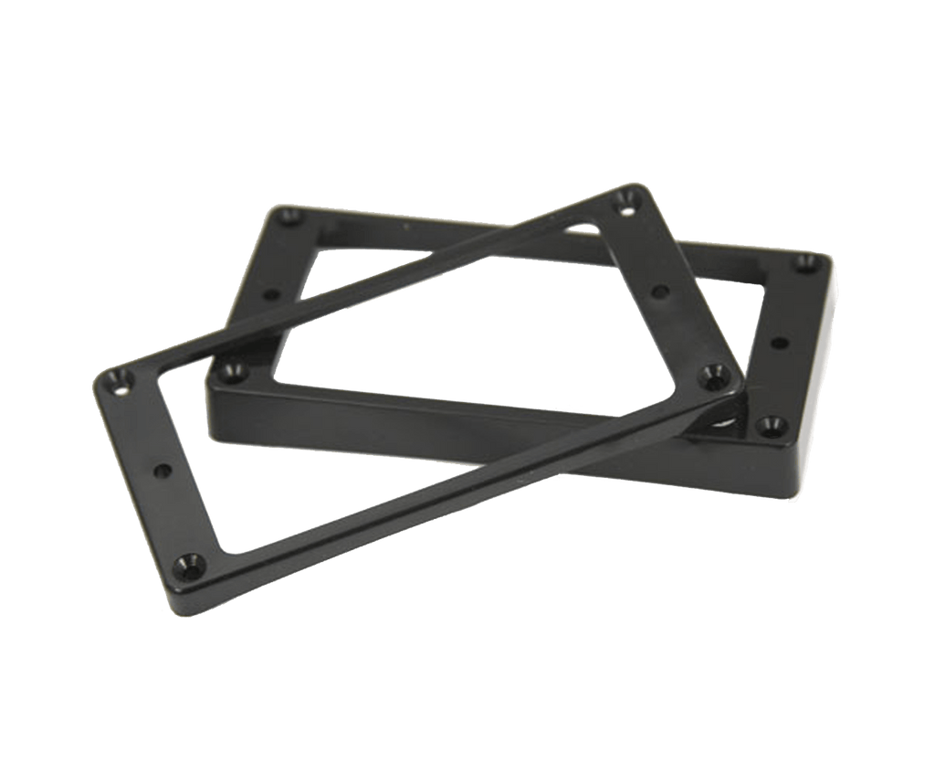 Allparts Humbucking Pickup Rings Curved Bottoms, Black - Megatone Music