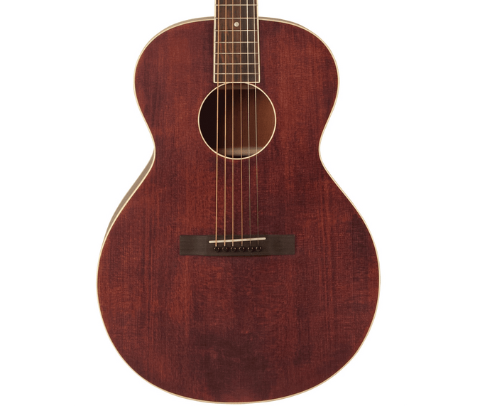 The Loar LH-204 Brownstone Small Body Acoustic Guitar in Satin Finish Brown