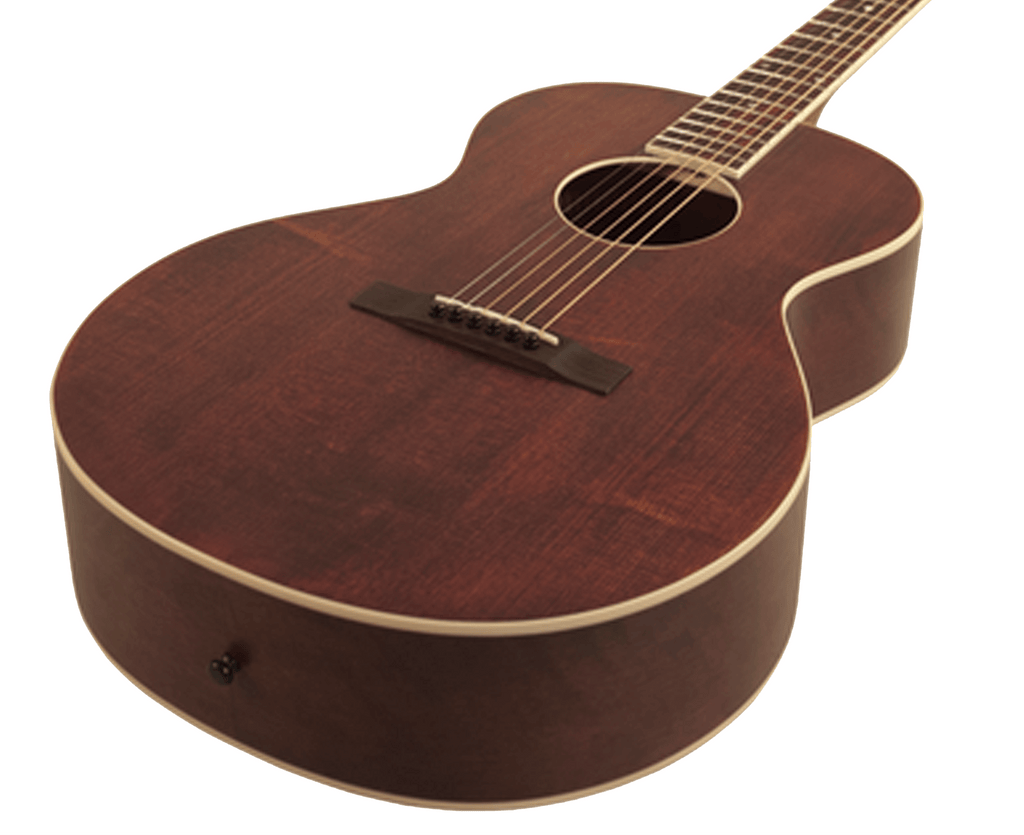 The Loar LH-204 Brownstone Small Body Acoustic Guitar in Satin Finish Brown - Megatone Music