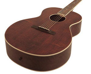 The Loar LH-204 Brownstone Small Body Acoustic Guitar in Satin Finish Brown Acoustic Guitars The Loar