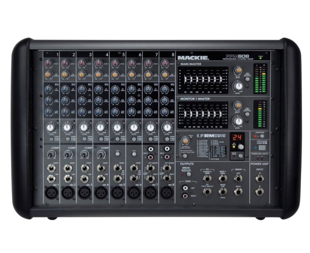 Mackie PPM608 Professional 8-Channel 1000W Powered Mixer - Megatone Music