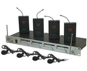 Nady U-41 Quad Omni Lav Wireless System (14/16/10/12) Wireless Microphone System Nady