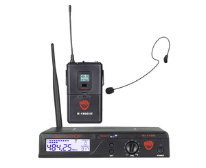 Nady U-1100 Over-the-Ear UHF Wireless System HM-35 Omnidirectional Condenser Mic Wireless Microphone System Nady