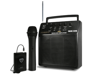 Nady WA 120 Portable PA System with Wireless Omni-Lavalier PA System Nady
