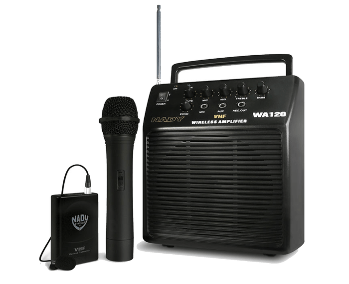 Nady WA 120 Portable PA System with Wireless Omni-Lavalier