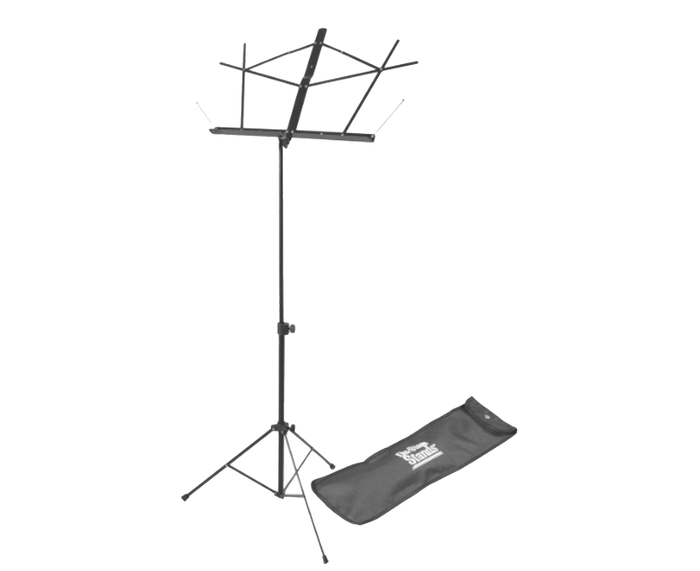 On-Stand Stands SM7122BB Compact Sheet Music Stand (Black, with Bag)