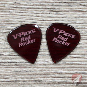 V-Picks Red Rocker Custom Guitar Pick 1.00mm 2 Pack Picks V-Picks