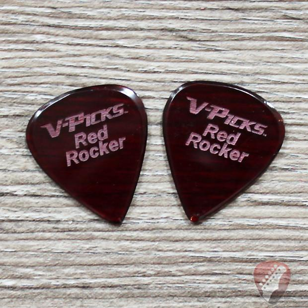 V-Picks Red Rocker Custom Guitar Pick 1.00mm 2 Pack