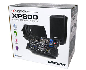 Samson Expedition XP800 Small Portable PA System - Megatone Music