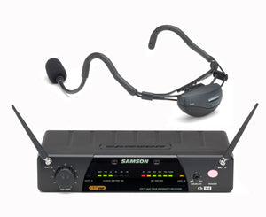 Samson SWQTCV10 N6 Airline 77 QV10e Fitness Headset System - True Diversity UHF Wireless Wireless Microphone System Samson