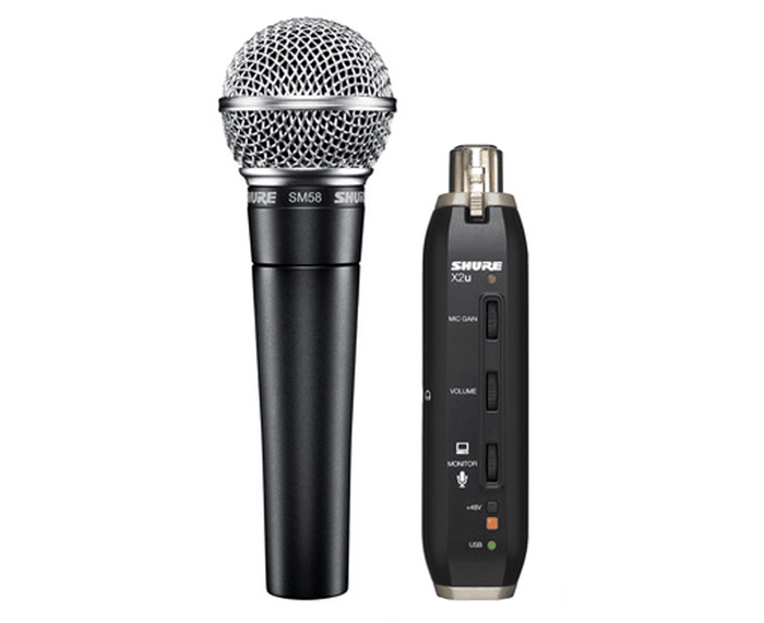 Shure SM58-X2u USB DIGITAL BUNDLE