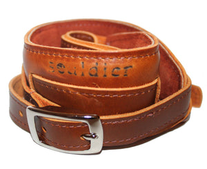 Souldier Vintage Leather Saddle Strap - Tan Guitar Straps Souldier