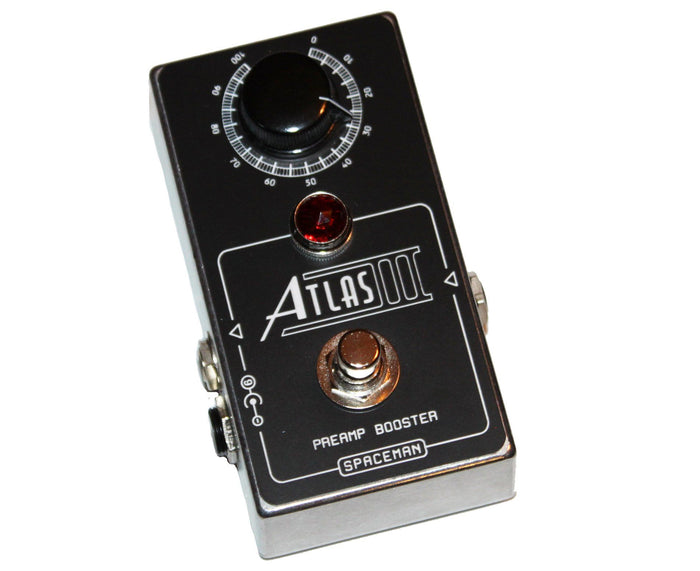 Spaceman Effects Atlas III Preamp Booster Effects Pedal - Silver Edition