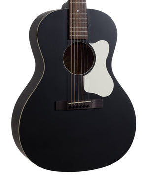 The Loar LO-14-TBK Flat Top Acoustic Guitar, Solid Top In Black - Megatone Music