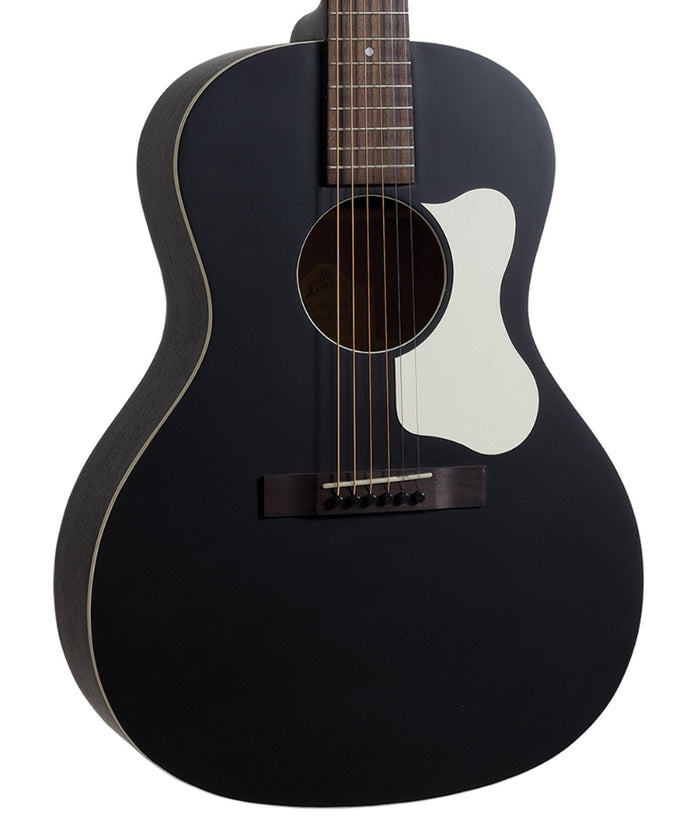 The Loar LO-14-TBK Flat Top Acoustic Guitar, Solid Top In Black - Free Case