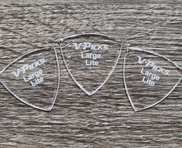 V-Picks Lite Large Pointed Custom Guitar Pick 1.5mm 3-Pack