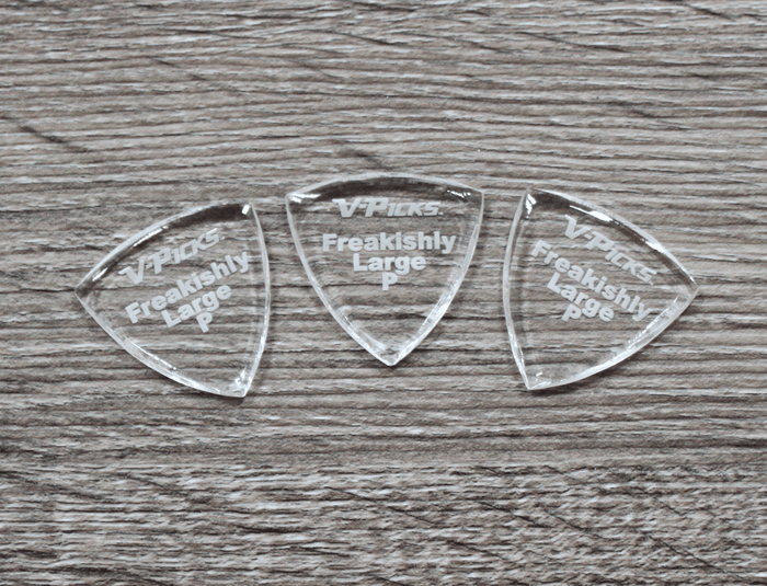 V-Picks Freakishly Large Pointed Custom Guitar Pick 2.75mm 3-Pack