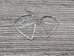 V-Picks Switchblade and Stiletto Custom Guitar Picks 1.5mm Picks V-Picks