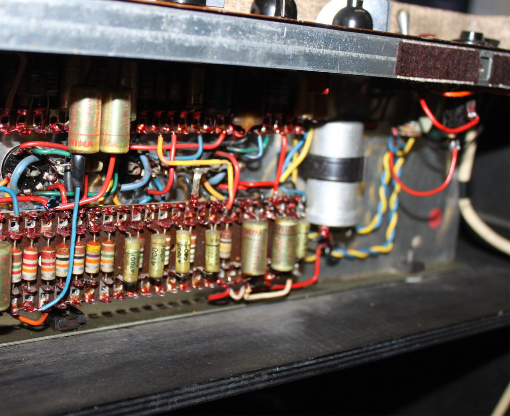Vox Ac30 6 Input 2x12 Combo In Fawn 1962 Amazing Original Wiring Condition
